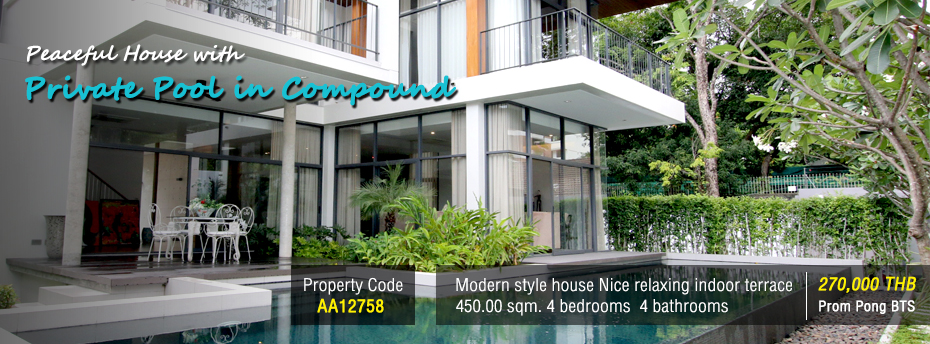 rent-house-with-pool-near-anglosingapore-international-school-sukhumvit-prompong-bts-Bangkok